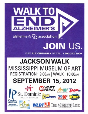 Walk To End Alzheimer's: Jackson, MS WALK | SEPT 15, 2012