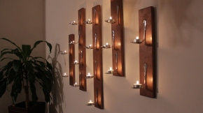 DIY: Tea Light Wall Art