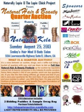 EVENT: Quarter Auction | Sunday, August25